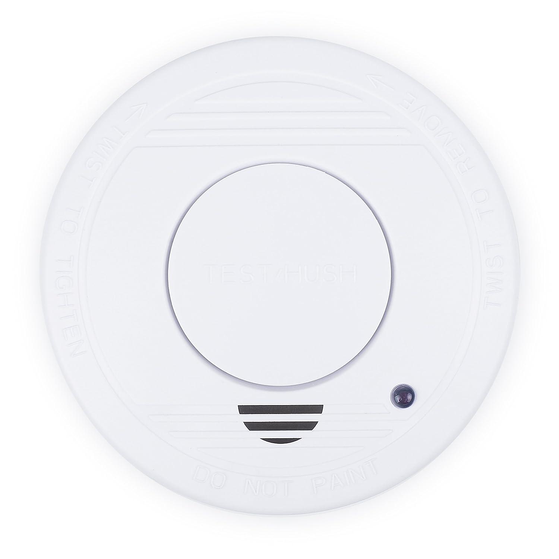 Smartwares 10.044.62 RM250-Detector de Humo, batería incluida, botón de Prueba, 85 dB, 9 V, Blanco: Amazon.es: Bricolaje y herramientas