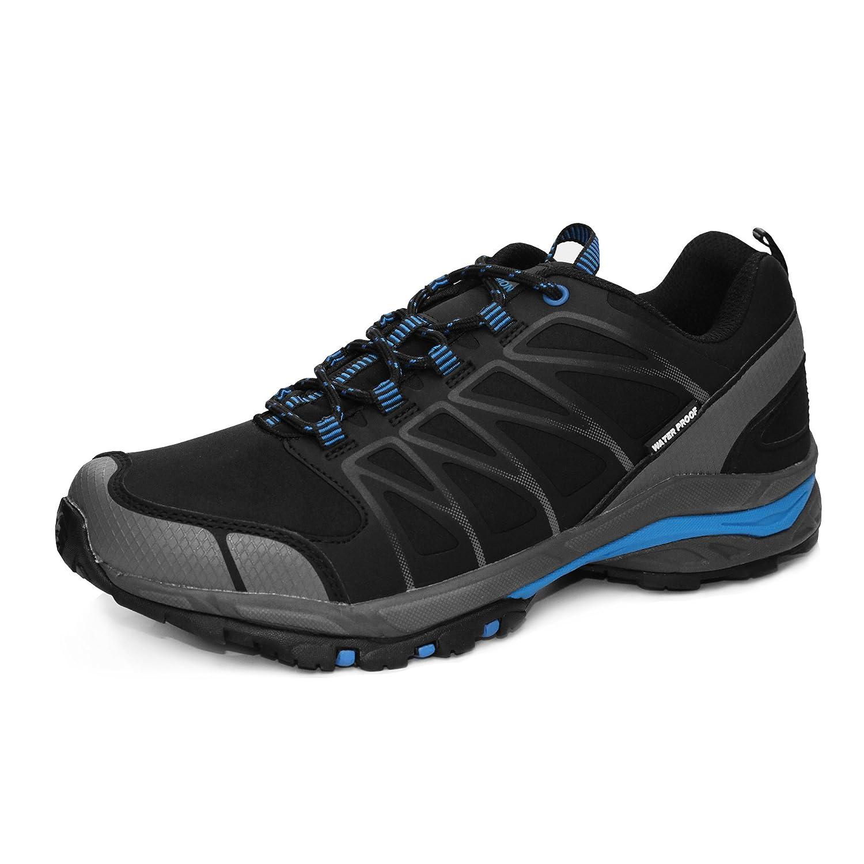 GRITION Herren Trekking Wanderschuhe Outdoor Wasserdicht Gleitsicher Stiefel Knöchelschutz Winter Warme Atmungsaktive Schuhe