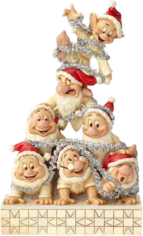 "Enesco Disney Traditions by Jim Shore White Woodland Seven Dwarfs Figurine, 8"", Multicolor"