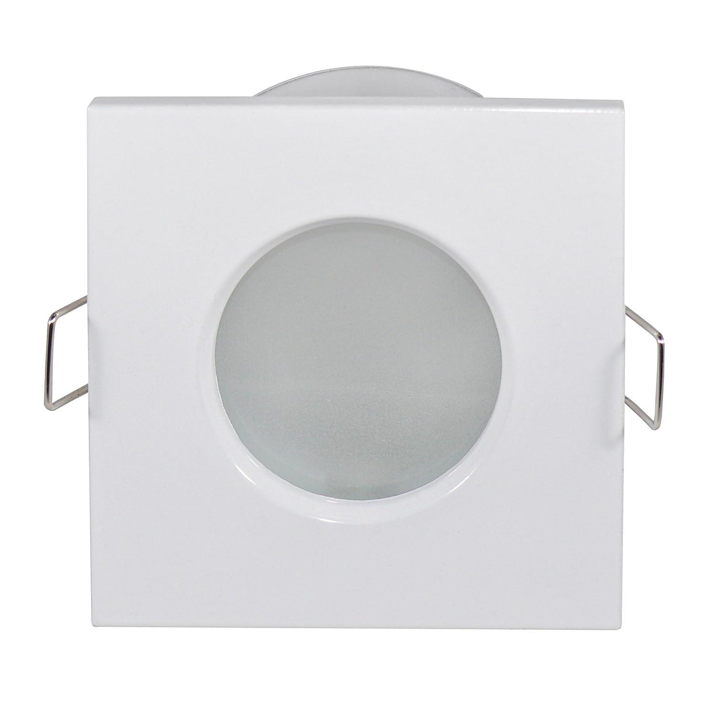 LED Lampade, lampada led da bagnato Outside–Rettangolare–IP65, Bianco–6lampadina a led da w, 540Lumen Bianco freddo–Dimmerabile–GU10–Set