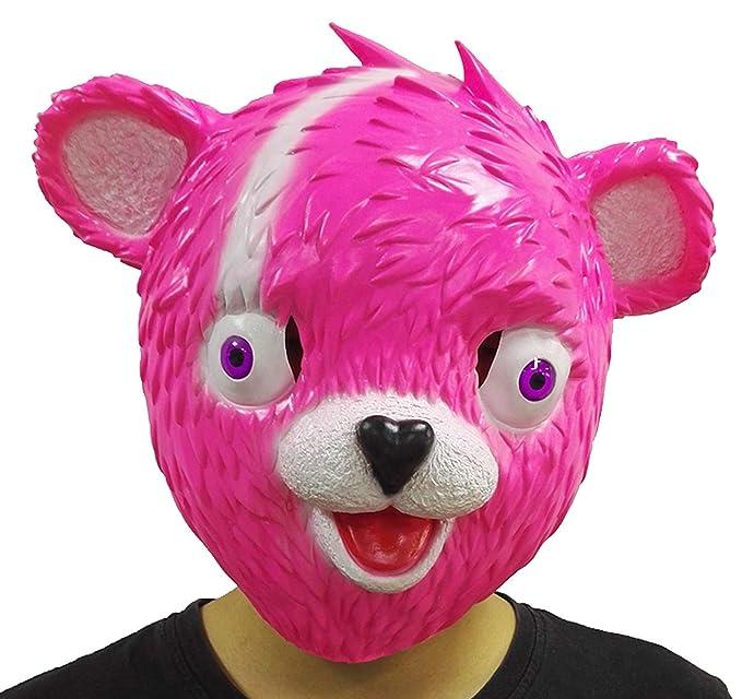 Amazon Com Cuddle Team Leader Fortnite Bear Game Mask Halloween