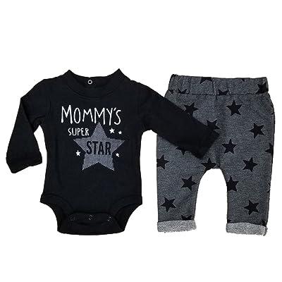 Koala Baby Infant Boys 2-Piece Mommys Super Star Bodysuit & Pants Set