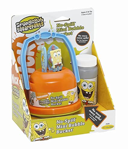 59aa3de2ee205 Amazon.com  SpongeBob SquarePants No Spill Mini Bubble Bucket  Toys   Games