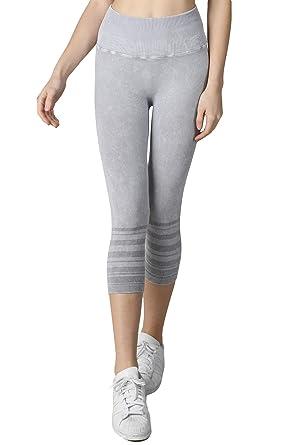 0b93888c5df91 Nikibiki Women Vintage Lined Capri Leggings, One Size (Vintage Cool Grey)