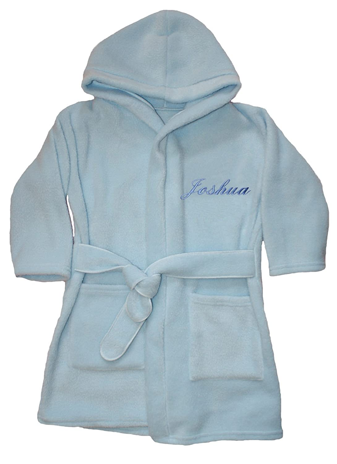 Little Stitches Boys Luxury Personalised Super Soft Fleece Dressing Gown/Bath Robe