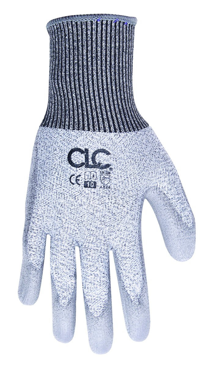 Medium CLC Custom Leathercraft 2105M Cut Resistant Polyurethane Dipped Gloves