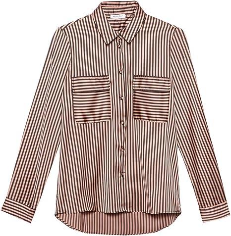 T-Shirt a Righe con Maniche a Sbuffo Motivi Italian Size