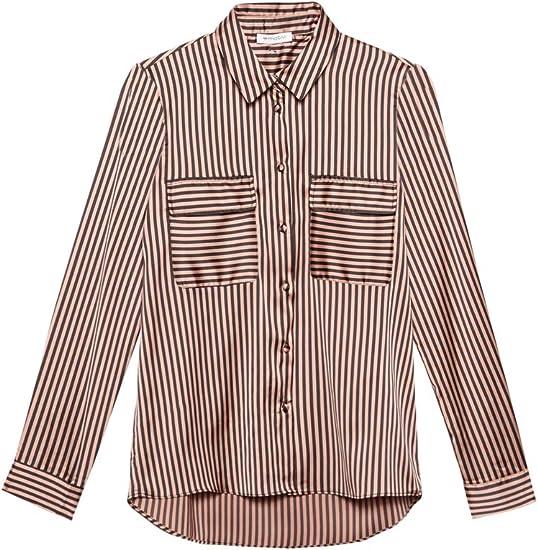 Motivi : Camisa de Raso de Rayas Negro 38 (Italian Size ...