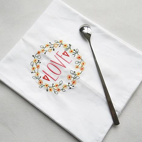 Lote de 2 Floral bordado Super absorbente algodón toalla de harina saco Kitchen dish paños sin ...