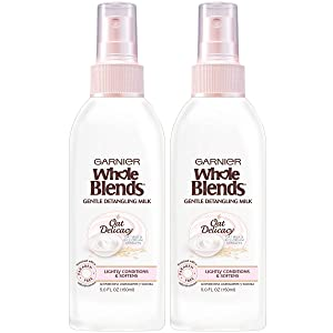 Garnier Whole Blends Oat Delicacy Gentle Detangling Hair Milk, 2 Count
