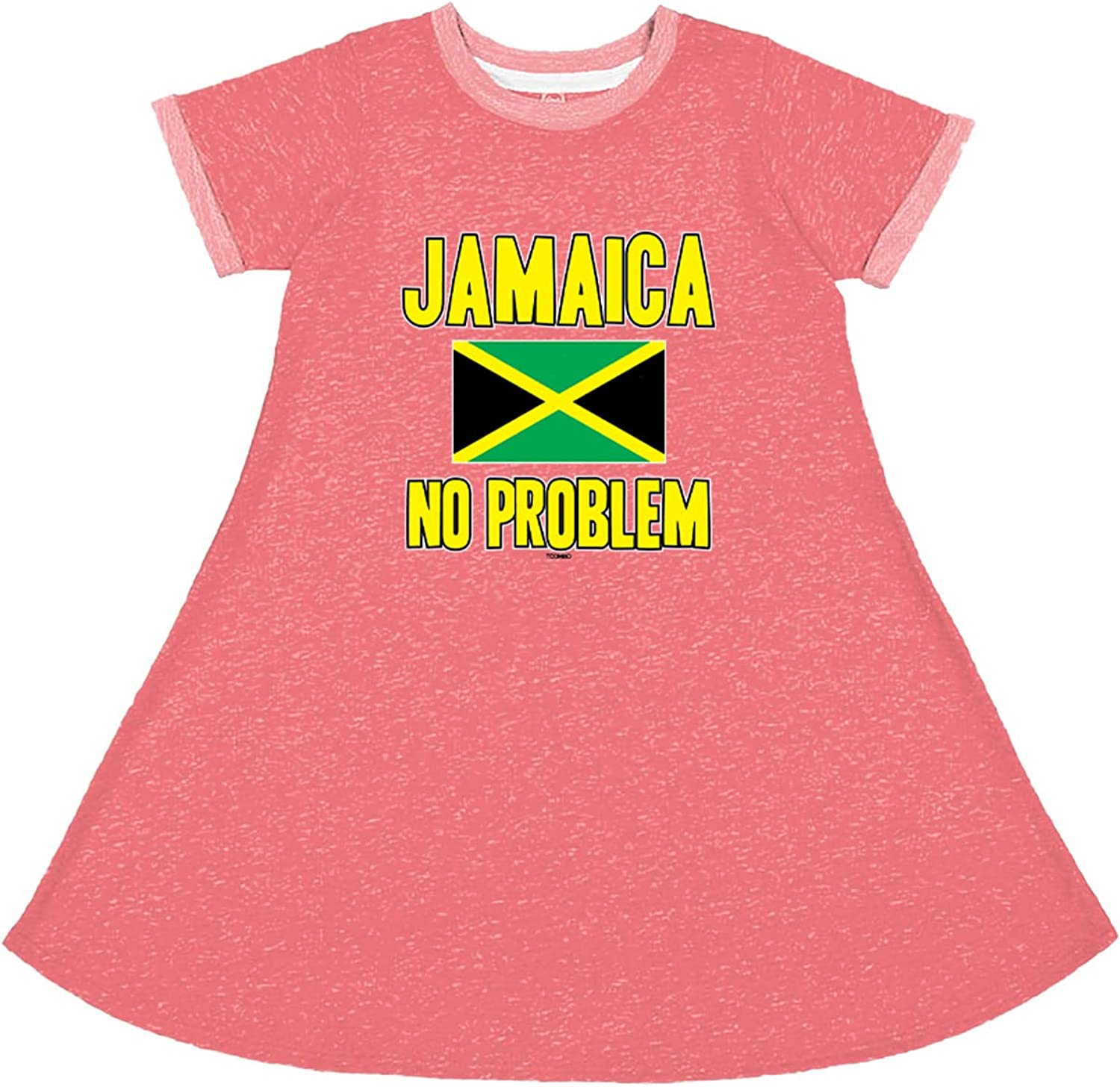 Amazon Com Jamaica No Problem Jamaican Strong Toddler Youth French Terry Dress Clothing