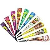 10x Golecha Temporary Tatoo - Multifarben Kegel für Hautdekoration (250g) 10 Farben