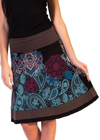 Coton du Monde - Falda - para Mujer Multicolor 44: Amazon.es: Ropa ...