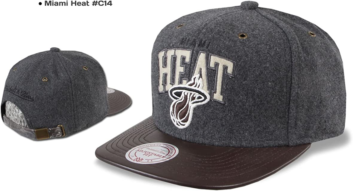 Miami Heat Los Angeles Kings Brookln Nets Warriors Etc Mitchell /& Ness Snapback Cap Chicago Bulls