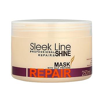 Amazon.com: STAPIZ Sleek Line Shine Repair Mask with silk proteins 250ml: Beauty