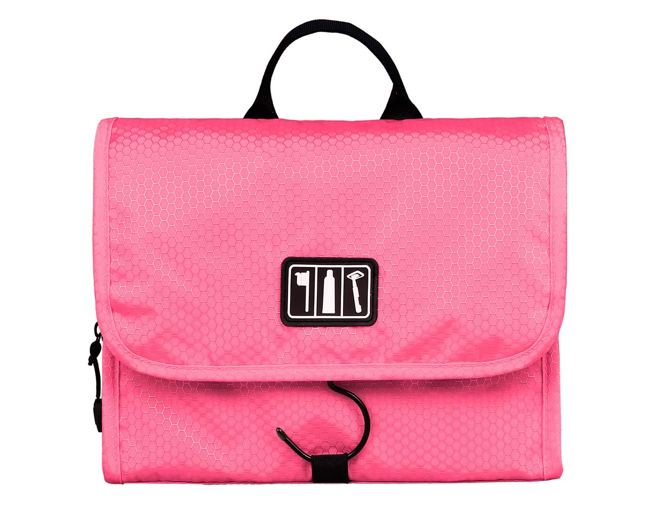 BAGSMART Small Travel Toiletry Bags Hanging Bathroom Bag Portable Toiletry Kit Clear Cosmetic Makeup Bag Case Organizer-Black Bags-mart BAG020050001-FCA