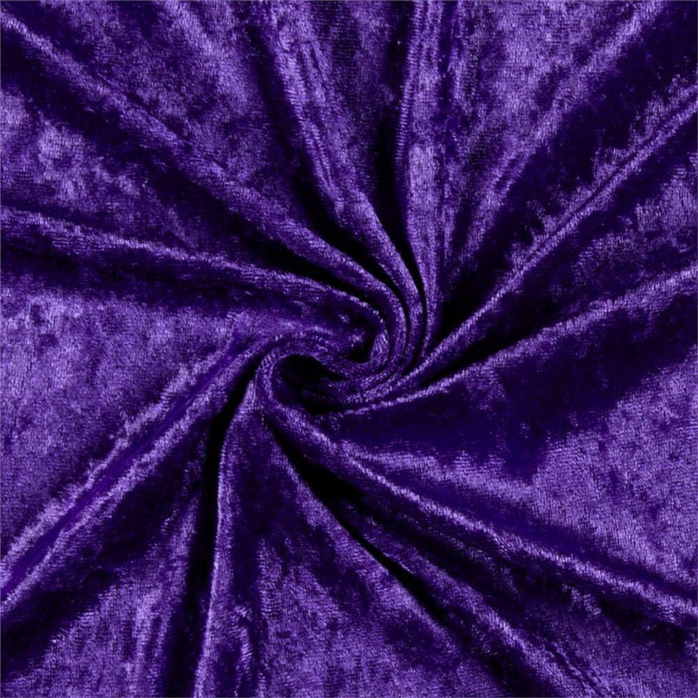 Fabric piece velours strech purple burgundy see through