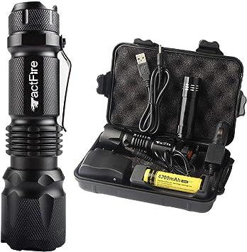 3pc XML T6 5 Modi LED Taschenlampe Zoom 18650 Flashlight Torch 10000Lumens r2