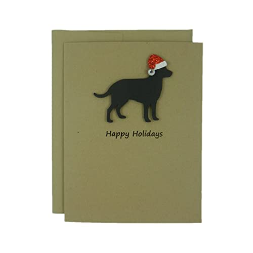 Amazon dog christmas cards 10 pack santa hat black lab dog christmas cards 10 pack santa hat black lab christmas cards black m4hsunfo