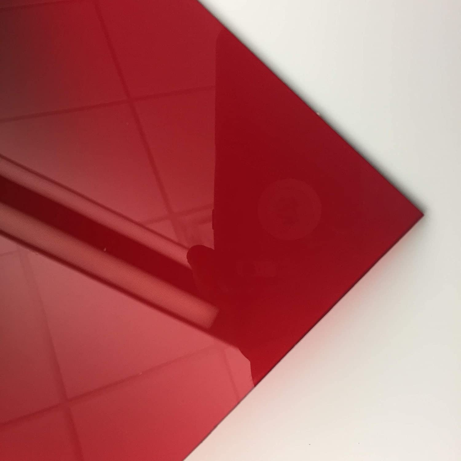 RED Acrylic Transparent # 2423-1//8 Thick Pick Your Size 12 X 12