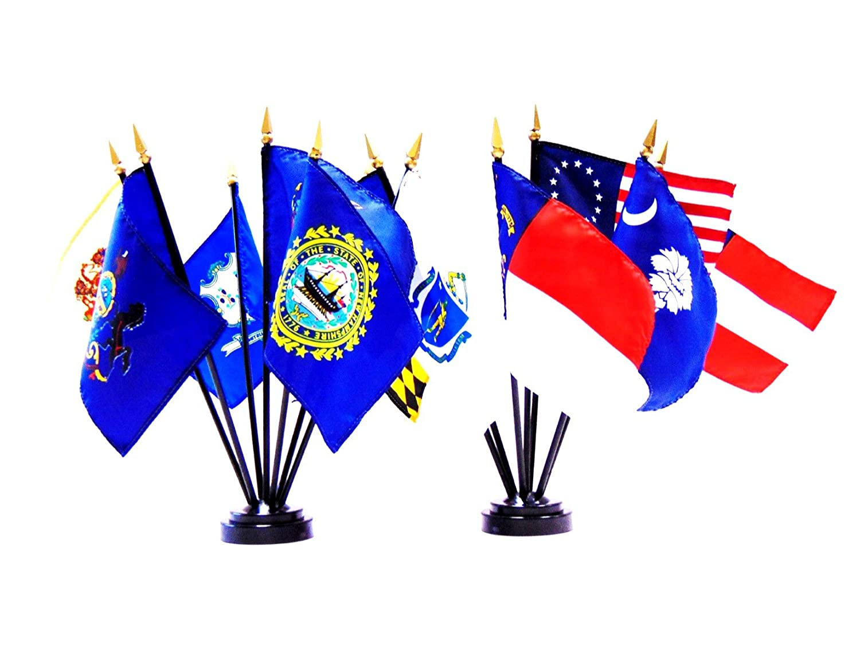 "4/""x6/"" Alaska Stick Flag Table Staff Desk Table"