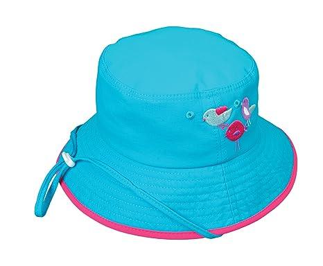 4656998c1f5 Amazon.com  Broner Kids Summer Camp Aqua Bucket Hat with Embroidery ...