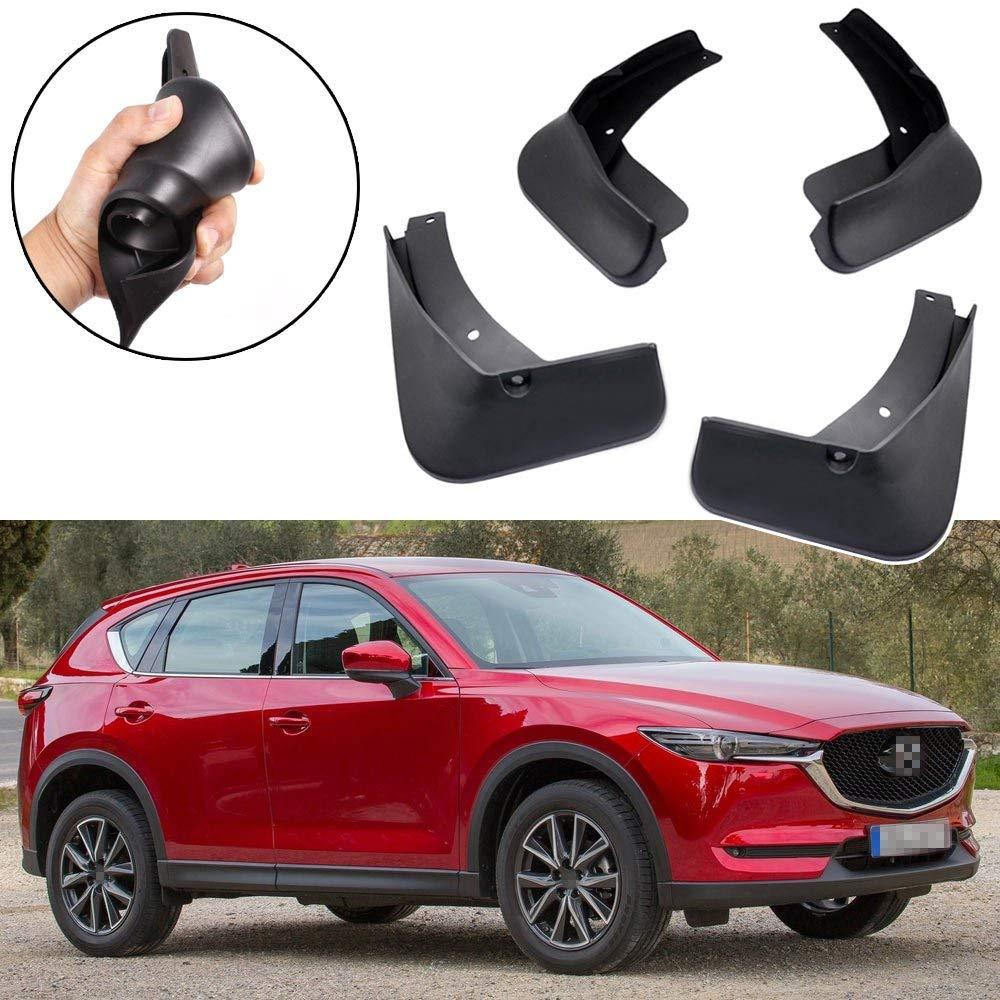 L/&U 4pcs Set vorne und hinten Schmutzf/änger Spritzschutz Klappe f/ür Mazda CX-5 CX5 2012-2016