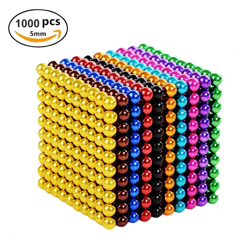 Q&Z Magnetic Block,1000pcs 5mm Magnets Blocks Sculpture Toys Science Education Kit Magic Building Ball Toys Desk Toy Construction 3D