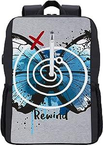 Life is Strange Rewind Backpack Daypack Bookbag Laptop School Bag with USB Charging Port