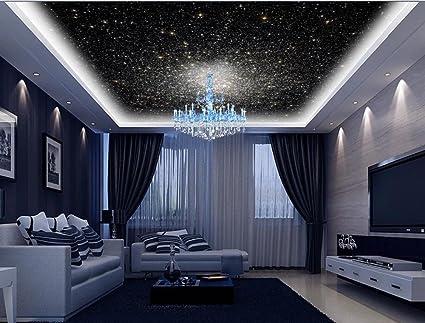 Amazon Com Mznm 3d Photo Wallpaper Ceiling Mural Wall Cosmic Galaxy