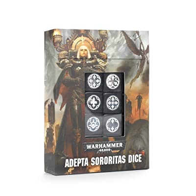 Warhammer Games Workshop 40K Adepta Sororitas Dice 86-68: Toys & Games