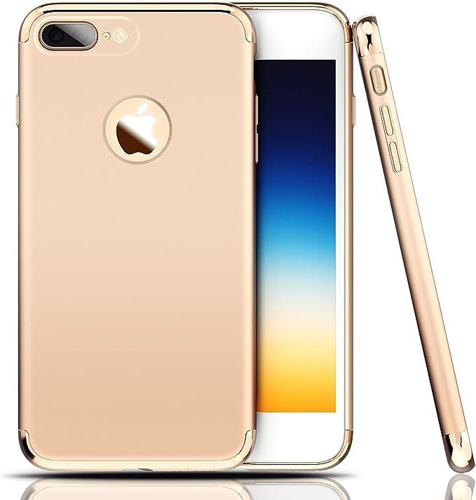 JEPER iPhone 8 Cover, iPhone 7 Custodia 360 Gradi Ultra Sottile Cassa 3 in 1 Duro PC Case Rigido Elegante Antigraffio Shock-Absorption Case per Apple ...