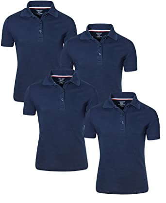 971585026 Amazon.com  French Toast Girl s Uniform Polo Short Sleeve Interlock ...