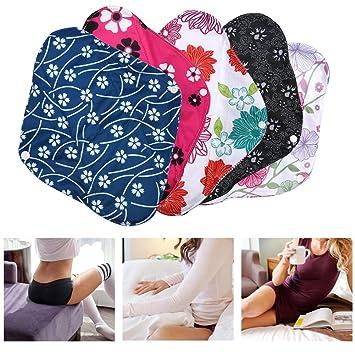 Almohadilla Menstrual Reutilizable Bamboo Charcoal Cloth Toalla Lavable Mama Sanitary 3 Colores(WSD23): Amazon.es: Belleza
