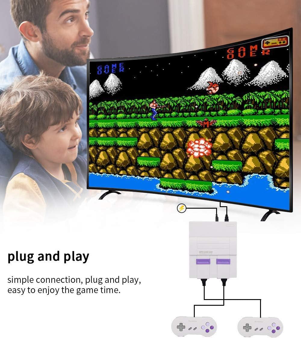 Mini Consola De Juegos NES HD 821,Consola De Juegos Retro, Salida AV Consola NES Cientos Incorporados De Videojuegos Clásicos