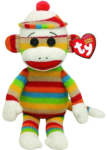 Amazon.com  Ty Beanie Babies Socks Monkey (Stripes)  Toys   Games ae4fda48da7