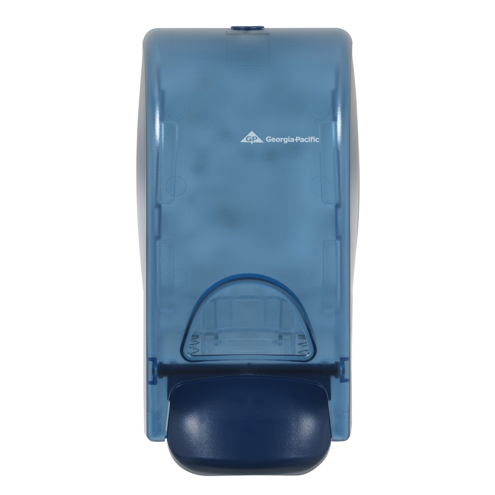 Georgia-Pacific 53052 Splash Blue Manual Soap and Sanitizer Dispenser, 5.6'' Width x 4.6'' Length