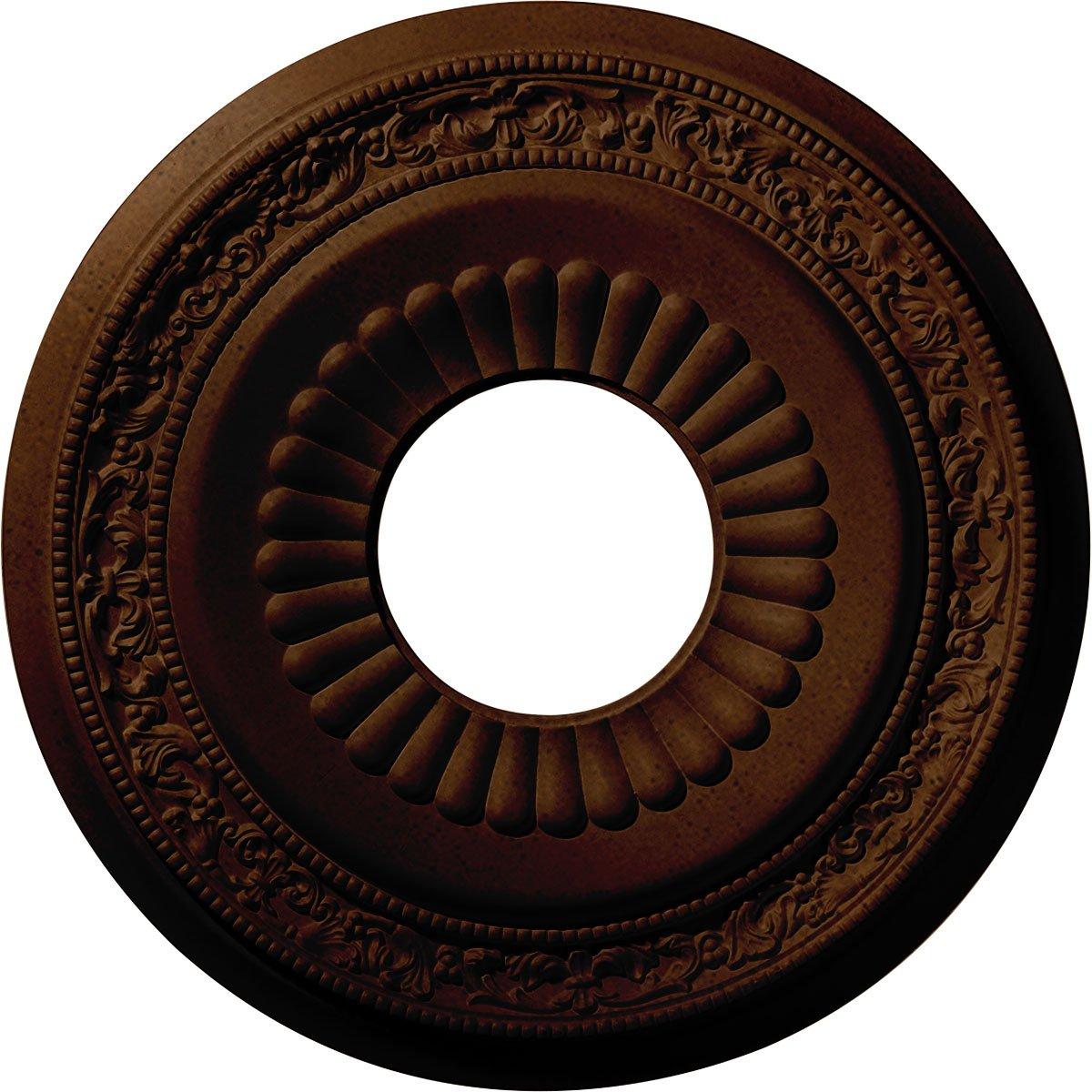 Ekena Millwork CM20LNRZS Lauren Ceiling Medallion, Rubbed Bronze