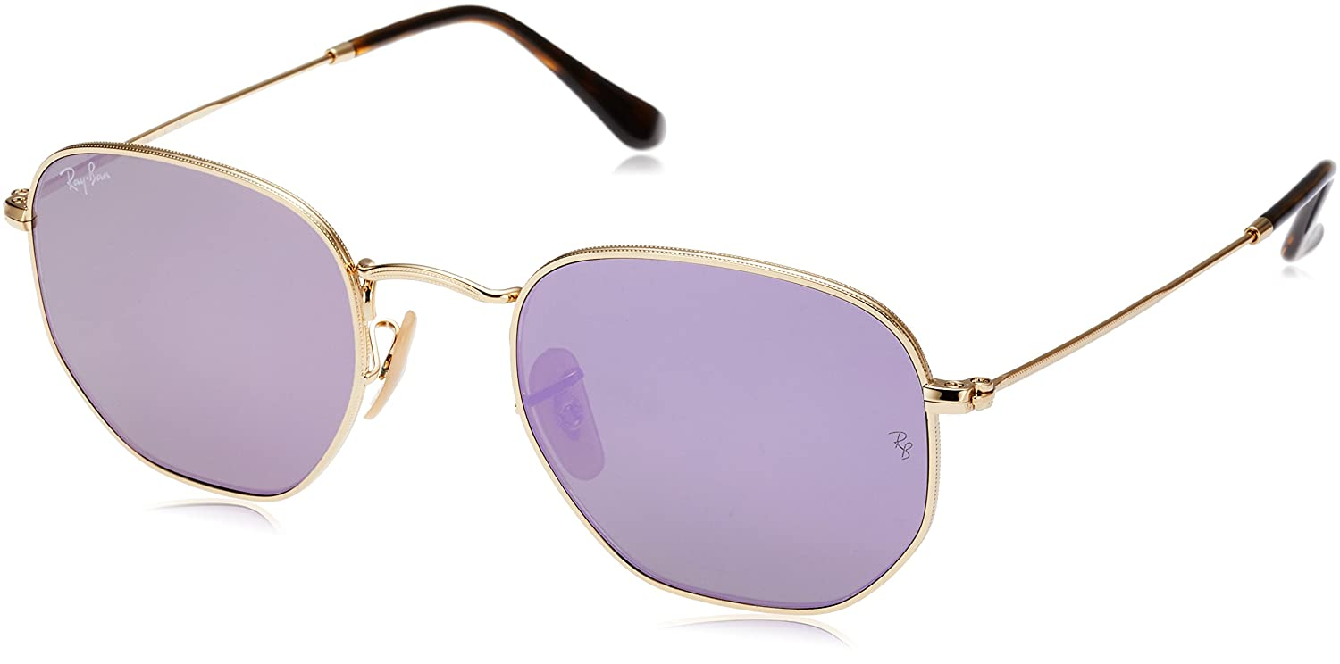 e478a8ea4a905 Amazon.com  Ray-Ban RB3548N 001 8O Non-Polarized Hexagonal Sunglasses