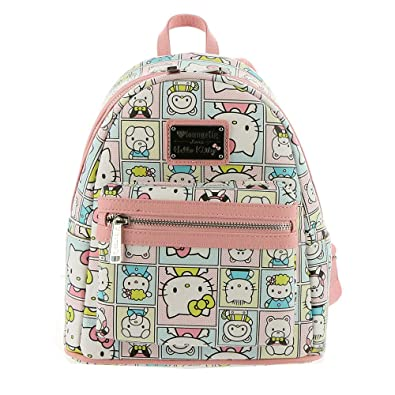 3550cafbe Amazon.com: Loungefly x Sanrio HELLO KITTY FRIENDS Mini Backpack ...