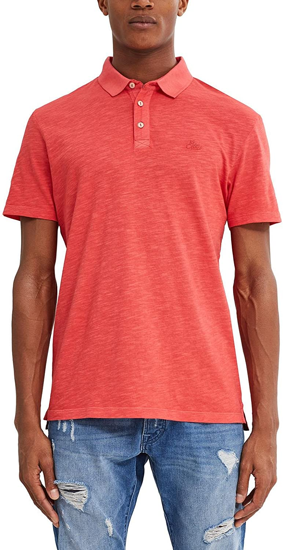 edc by Esprit 047cc2k009 Polo, Naranja (Red Orange), Large para ...