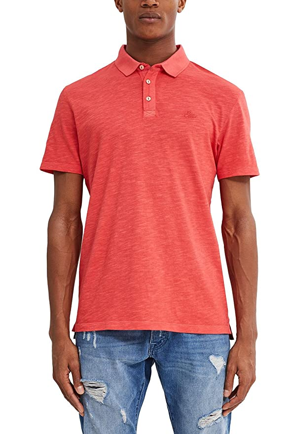 edc by Esprit 047cc2k009, Polo Hombre, Naranja (Red Orange), Large ...