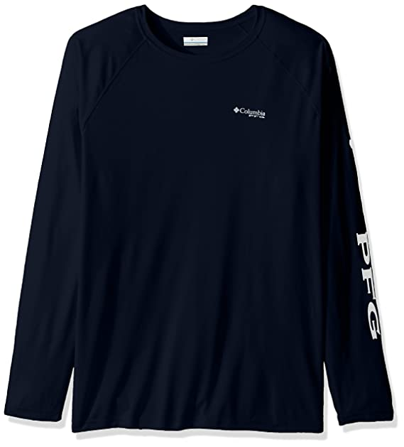 078b9ef2b98a Columbia Men's Big and Tall Terminal Tackle LS Shirt, Collegiate Navy/White  Logo,