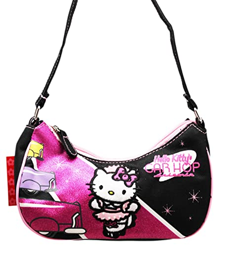 e9a8ebe2c Image Unavailable. Image not available for. Color: Hello Kitty Car Hop  Sparkly Pink/Black Small Size Kids Purse