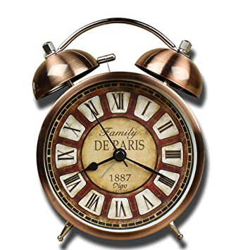 Reloj despertador clásico de diseño retro, superruidoso, casi sin tictac