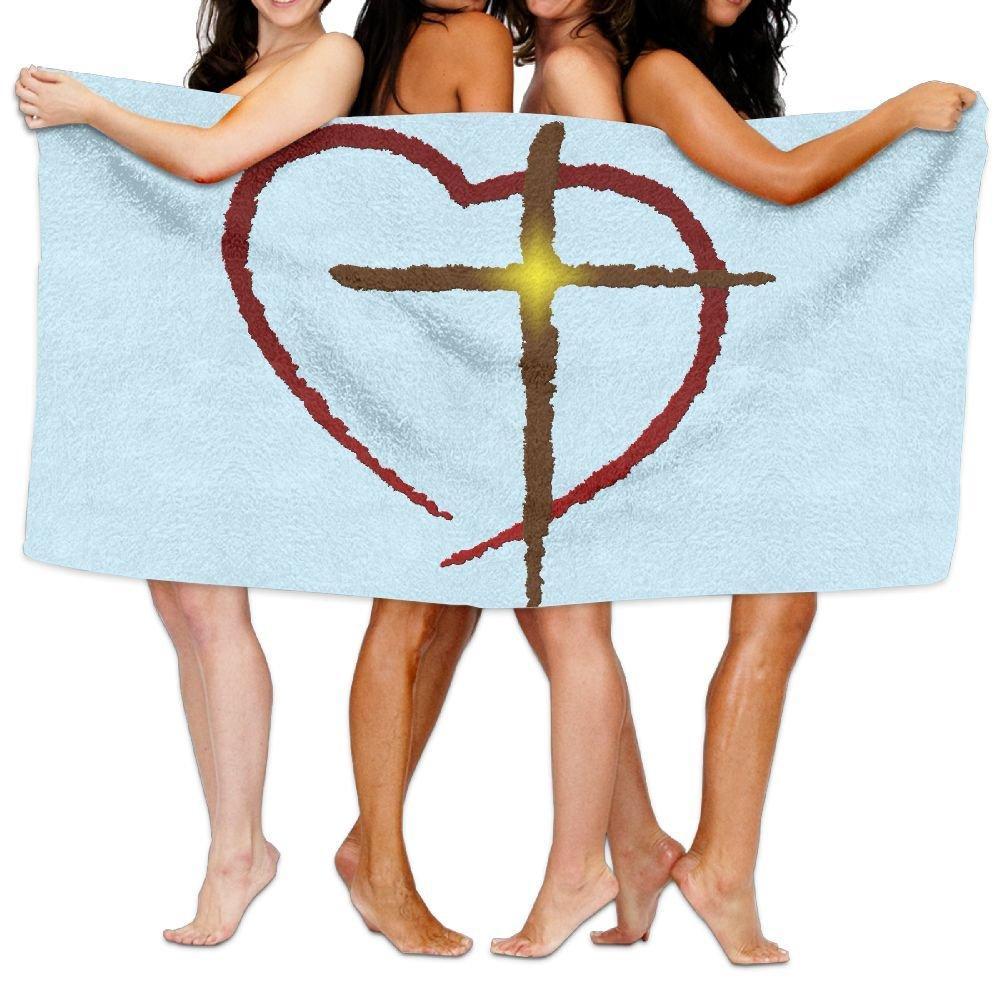 Lichang Beach Pool Custom Bath Towels Funny Christian Jesus Cross Love Super Absorbent Microfiber