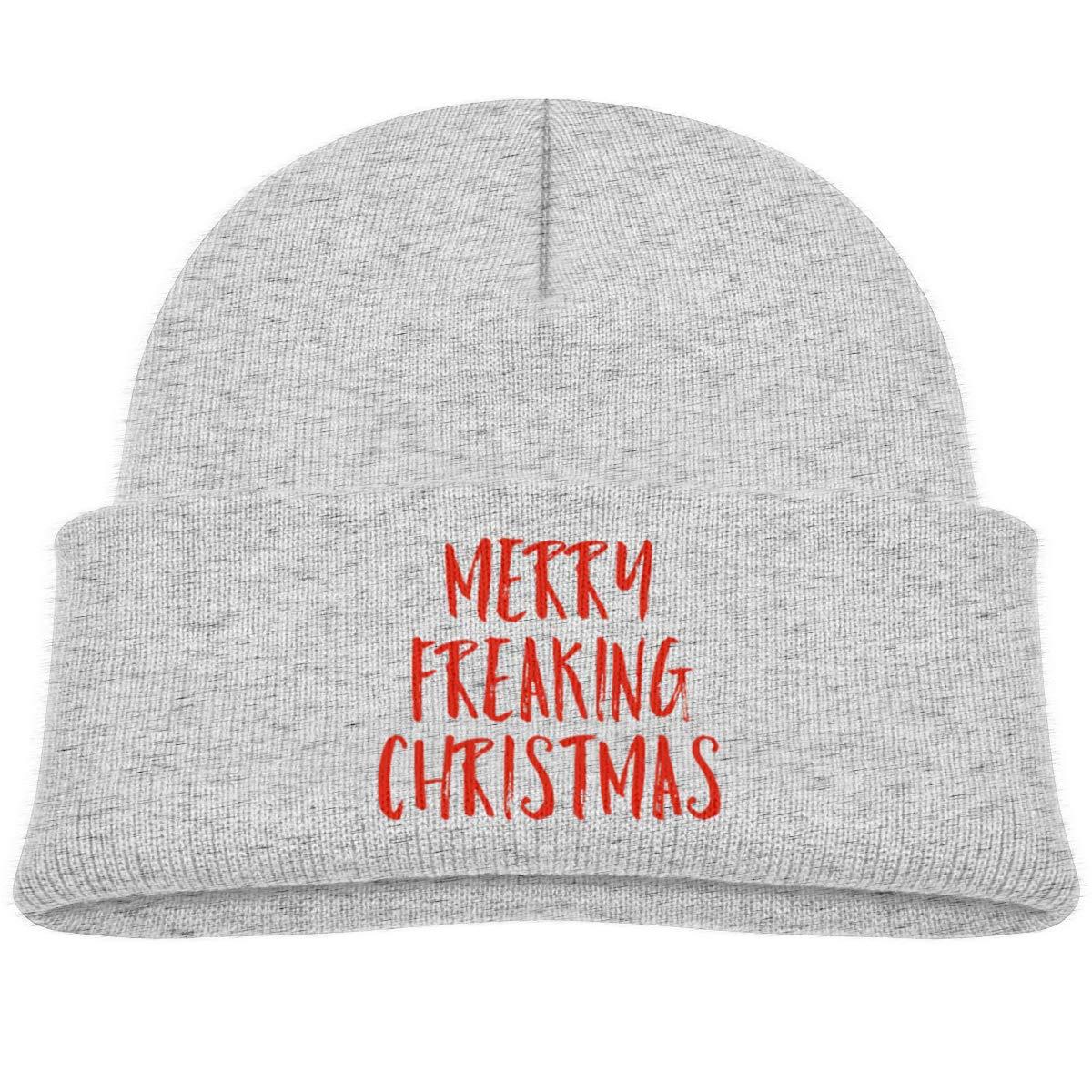 Hanfjj Kefdk Merry Freaking Christmas Infant Knit Hats Kids Beanie Cap