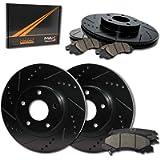 [Front + Rear] Rotors w/Ceramic Pads Elite Brakes 2011 2012 2013 CT200H Prius