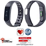 Newgen Medicals Fitness-Band: Fitness-Armband V4, XL-Touch-Display, Nachrichten, DYN. Herzfreq, IP67 (Fitness-Tracker, Bluetooth)
