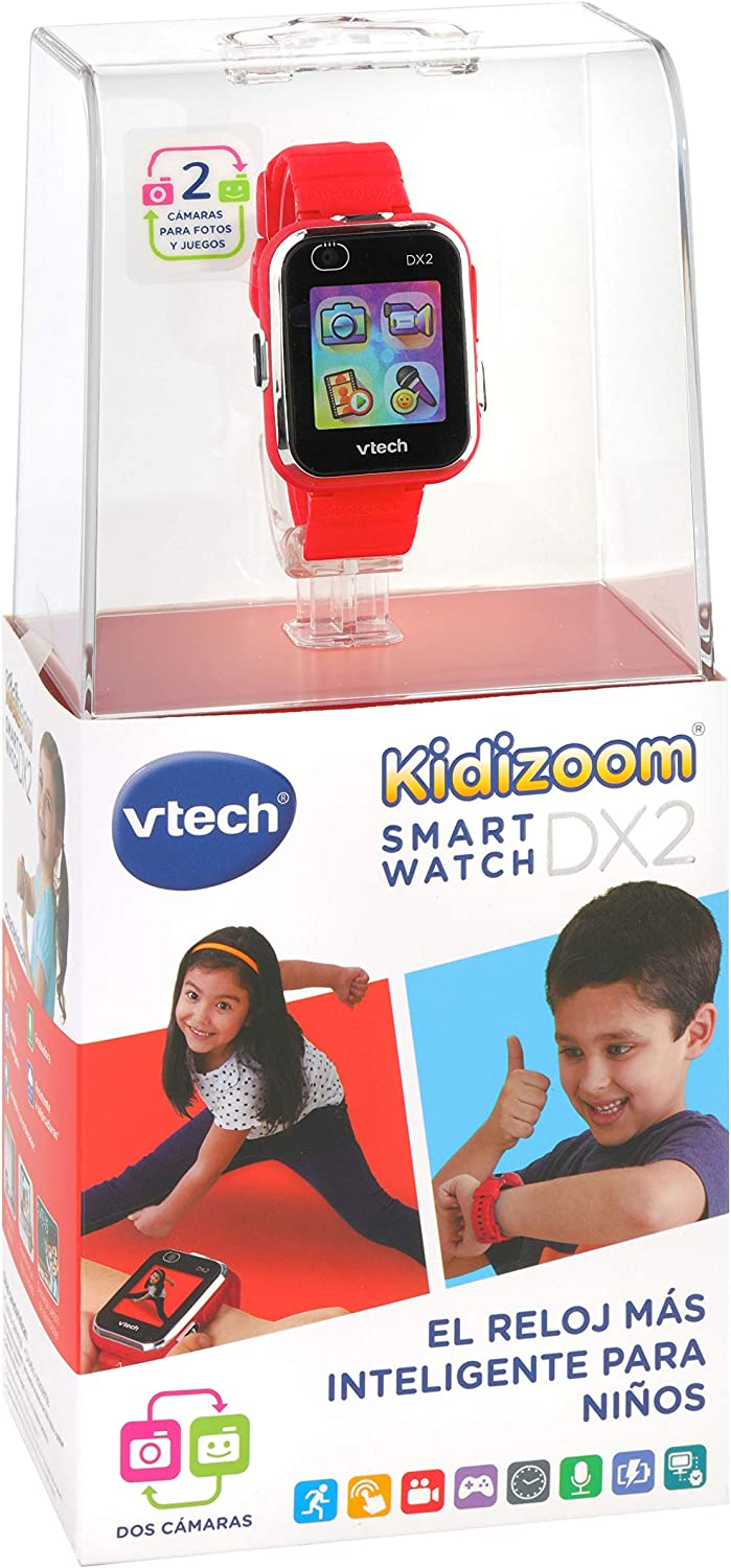 VTech Kidizoom Smart Watch DX2 Kids Smart Watch with Dual Camera red